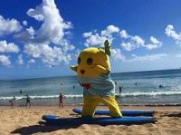 ☆ふなっしー バリ島でサーフィン デビューする なっしー♪☆